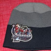 Kids Avenger Winter Stocking Hat by Marvel Gray and Blue. One Size   Photo