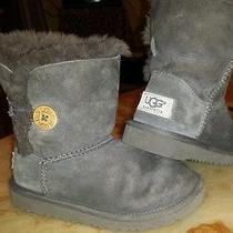 Kids Bailey Button Ugg Boots Size 11 Very Gently Worn Photo