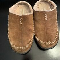 Kids Black Suede Sorel Slipper Moccasins Size 5 Photo