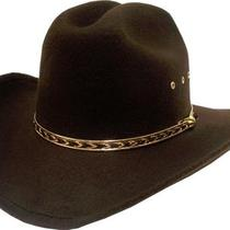 Kids Boys Girls Brown Western Cattleman Cowboy Cowgirl Hat Fancy Gold Band New Photo