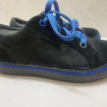 Kids' Crocs Hover Sneaker  Leather Black Graphite Size C13 Nwt Photo
