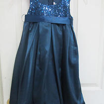 Kids Dream Girls Size 5/6 Navy Blue Fancy Dress With Sequins  Photo
