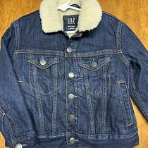 Kids Gap Denim Sherpa Jacket Size Xs  Photo