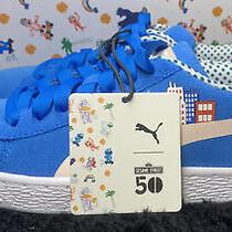 Kids Puma Sesme Str 50 Suede Jr Blue (368923 01) Sz Uk 4 Eur 37 Us 5c Cm 23 Photo