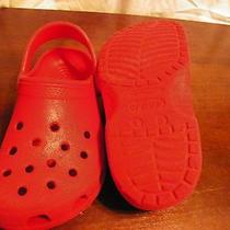 Kids Red Crocs Size 1/3 Photo