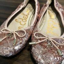 Kids Sam Edelman Girls Felicia Slip on Ballet Flats Pink Rose Gold Size 1 Photo