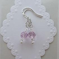 Kids Swarovski Crystal Elements Sterling Silver Earrings Accessories  Photo