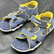 Kids Timberland Adventure Seeker Two-Strap Sandal - Navy/yellow Size 3 Photo
