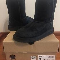 Kids Ugg Australia 5251 K/ Black Classic Short Ii Boots Suede  Sz 2 Photo
