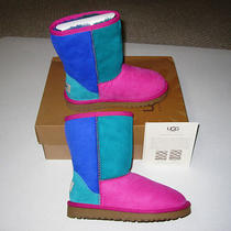 Kids Ugg Australia Classic Patchwork Ps Boots Nib Youth Sz 1 Fruitpunch 155 Photo