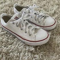 Kids White Converse Sneakers - Size 13.5 (Pre-Owned) Photo