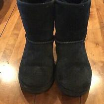 Kids Youth Size 2 Black Ugg Boots Great Condition Photo