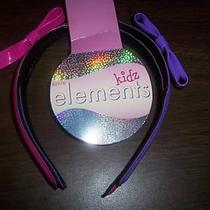 Kidz Elements Vinyl Pink & Purple Set of Headbands Photo