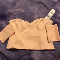 Kiki Riki Crop Tube Top Blush Zipper Back Size M Nwt Photo