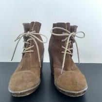 Kimchi Blue by Urban Outfitters Brown Suede Heeled Lace Up Boots Women's Size 8 Photo