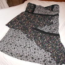 Kimchi Blue Urban Outfitters Black Gray Ruffle Patchwork Sally Rag Mini Dress Xs Photo