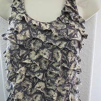 Kimchi Blue Urban Outfitters Gray Floral Tank Top Cross Back Womens S 490 Photo