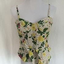 Kimchi Blue Urban Outfitters Large Floral Corset Top Photo