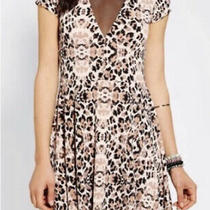Kimchi Blue Urban Outfitters Mesh Bust Animal Print Skater Dress  Photo