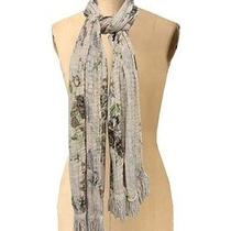 Kimchi Blue Urban Outfitters Tan Brown Flowers Pattern Neck Scarf New Yrs Party Photo