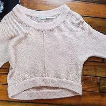 Kimchi Blue Urbanoutfitters Womens Sweater Peach Blush Size S Cropped Batwing Photo