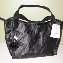 Kipling Hb6475 Sarande Hobo Tote Handbag Lacquer Black Nwt Photo