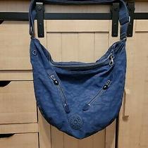 Kipling  Sally Crossbody Shoulder Hobo Bag Purse  Boho Blue Photo