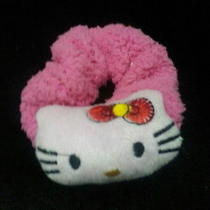 Kitty Elastic Hair Tie Band Sanrio Rope Ponytail Bracelet Head Doll Plush Girl Photo