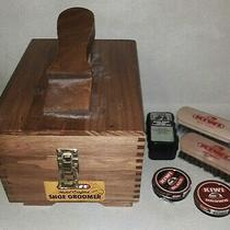 Kiwi Hand Crafted Shoe Valet Shoe Shine Wooden box.dovetail Joints With Supplies Photo