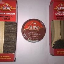 Kiwi Shoe Boot Polish Brown Paste Applicator Brush and Shine Brush  Photo