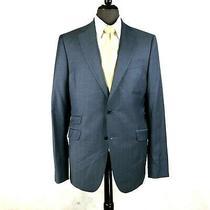 Klein Epstein Parker Mens Bluish Gray Wool Made to Measure Blazer Jacket 40r Photo