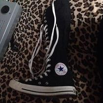 Knee High Converse Black Photo