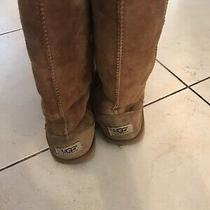 Knee High Tan Ugg Boots Size 5 Photo