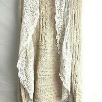 Knitted & Knotted Anthropologie Sz Small Open Knit Vest Photo