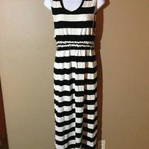 Knot Sisters M Urban Outfitters Medium Dress Maxi Black White Striped Cool Photo