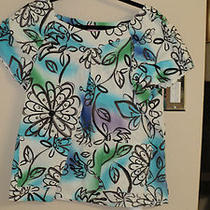 Koi Scrub Top Xl Mint Conditon-Must See  Very Gently Worn.  Aqua Print Photo