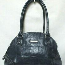 Koltov Faux Leather Small Purse Tote Bag Zip Top 3 Compartments Blue Croc Emboss Photo