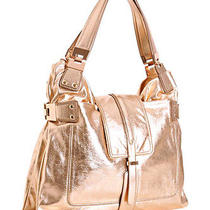 Kooba Gemma Rose Gold Leather Hinge Tote Handbag Rare 595 Used Once Photo