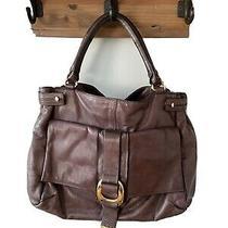 Kooba Large Wine Purple Leather Hobo Shoulder Bag Buckle Detail Photo