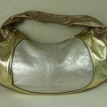 Kooba Metallic Gold Leather Hobo Bag / Purse Disco Shimmer Leather Photo