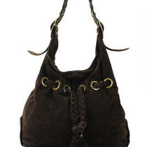 Kooba Suede Braided Belt Hobo Bag Brown Size Medium Photo