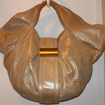 Kooba Taupe Shimmer Hobo Twist Handle Bag Purse / Photo