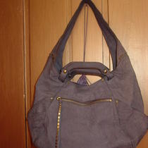 Kooba Tegan Convertible Hobo Bag Purse Blue Purple Orig 495 Free Ship W/bin Photo