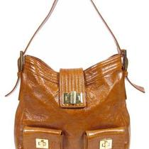 Kooba Textured Finish Brown Patent Leather Hobo Shoulder Bag Purse Large Size Photo