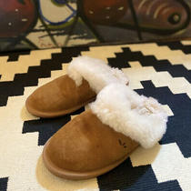 Kookaburra Ugg Tan Scuff Slippers Womens 5 Suede Fur Lined Slippers Photo