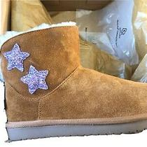 Koolaburra by Ugg Kids Koola Star Mini Boots Chestnut Size 2 1107011 Brand New Photo
