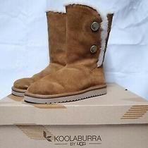 Koolaburra by Ugg Kinslei Tall Boot Chestnut Suede Size 9 Photo