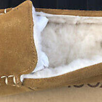 Koolaburra by Ugg Lezly Chestnut Suede Fur Slippers Womens Size 8m Photo