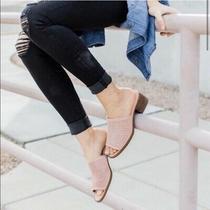 Koolaburra by Ugg Raychel Blush Pink Suede Mule Shoes Size 8.5 Photo