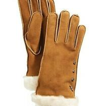 Koolaburra by Ugg Studded Gloves With Faux Fur Cuff in Chestnut Photo
